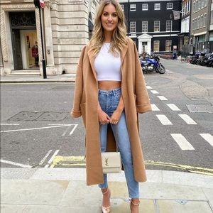 Zara limited edit 100% wool coat bloggers favorite